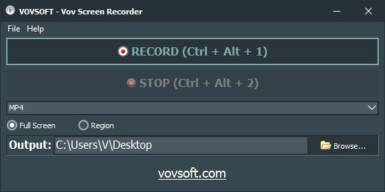 Free Vov Screen Recorder (100% discount) | SharewareOnSale
